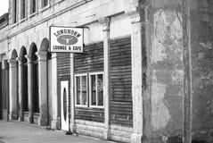Olden czas głównej ulicy tawerna fotografia royalty free