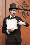 Olden Day Messenger Man Royalty Free Stock Images