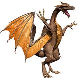 Olden dragon attacking 2 Royalty Free Stock Photography