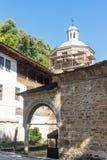 Olden e ricostruzione nel monastero di Troyan, Bulgaria Fotografia Stock