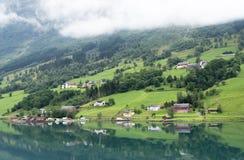 Olden fjord Arkivbilder