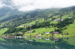Olden fjord Stock Images