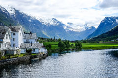 Olden, la Norvegia Fotografia Stock Libera da Diritti