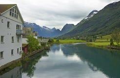 Olden, la Norvège Photo libre de droits