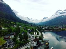 Olden. Norway village nature fjords Royalty Free Stock Photography