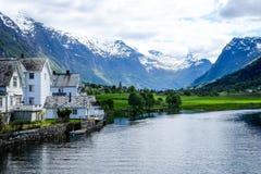 Olden, Norwegia Fotografia Royalty Free