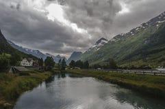 Olden, paesaggio della Norvegia Fotografia Stock Libera da Diritti