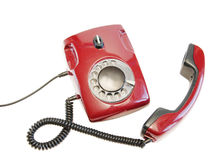 Olden red phone Royalty Free Stock Photography