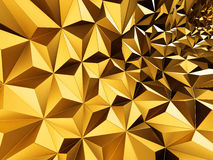 Пolden triangle polygon pattern abstract background. 3d render illustration Royalty Free Stock Photography