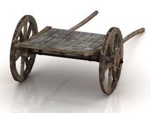 Olden wagon cart with wooden Stock Photography