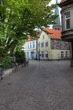 Oldenburg Altstadt Quiet Street Royalty Free Stock Images