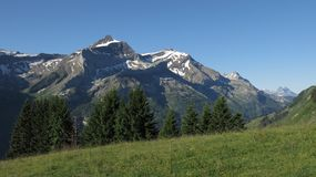 Oldenhorn, Scex Rouge and Dents Du Midi Royalty Free Stock Image