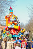 OLDENZAAL, NETHERLANDS - MARCH 6: Giant  figures during the annual carnival parade  in Oldenzaal, Netherlands. Royalty Free Stock Photos