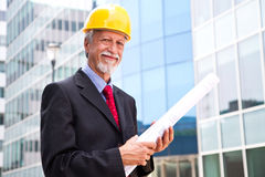 Older architect looking out Royalty Free Stock Photography