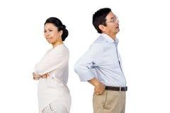 Older asian couple having an argument Stock Photos