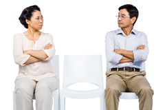Older asian couple having an argument Royalty Free Stock Photo