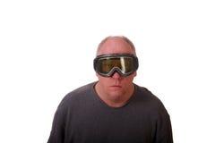 Older Balding Man in Gray Shirt Royalty Free Stock Photo