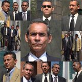 Older Business Man Collage. Older Business Men Multipanel Collage Royalty Free Stock Photos