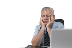 Older business man. Business man stressed and under pressure, selective focus stock photography