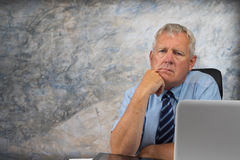 Older business man. Business man stressed and under pressure, selective focus stock image