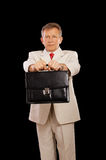 Older businessman with attache Stock Images