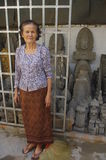 Older Cambodian woman Stock Photography