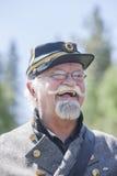 Older confederate reenactor. Royalty Free Stock Image