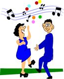 Older couple dancing Royalty Free Stock Image