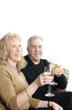 Older couple enjoying a drink Royalty Free Stock Photo