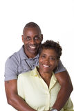 Older Couple. Full length portrait of an older couple standing close  isolated Royalty Free Stock Image