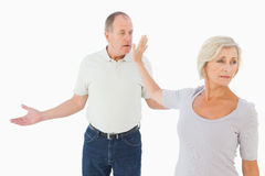 Older couple having an argument Royalty Free Stock Photography