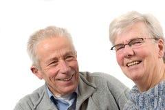 Older couple having fun royalty free stock photo