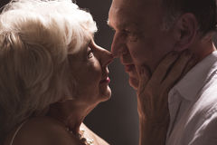 Older couple love romance Stock Images