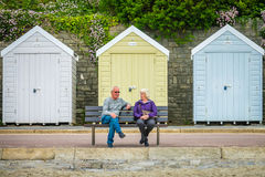 Older Couple On The Bench In Bournemouth Royalty Free Stock Photos
