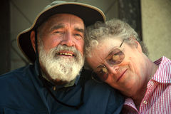 Older couple on the porch  Royalty Free Stock Images