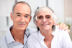 Older couple. On a summer holiday Stock Photos