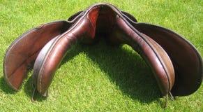 Older English saddle - gullet of the saddle Stock Photos