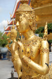 Older golden ginaree statues Stock Images