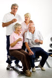 Older group of friends in the gym Stock Photography
