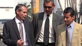 Older Hispanic Business Men Walking. Stock photo of business men Royalty Free Stock Photo