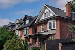 Older houses with gables and dormers Royalty Free Stock Photography