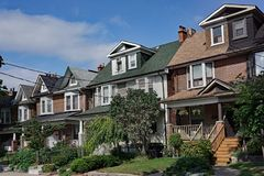 Older houses with gables and dormers Stock Images