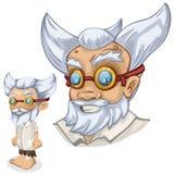Older male scientist professor, cartoon people Royalty Free Stock Photography