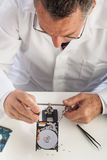 Hard Disk Repairman Royalty Free Stock Photos