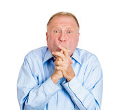 Older man anticipating Royalty Free Stock Images