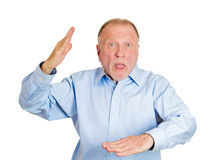Older man attacking with karate chop Stock Photography