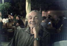 An older man in the evening Stock Image