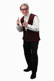 Older Man Gesturing Royalty Free Stock Photos