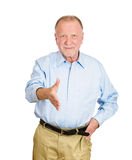 Older man giving handshake Stock Photography