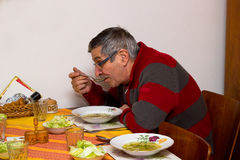 Lunch at home Royalty Free Stock Photo